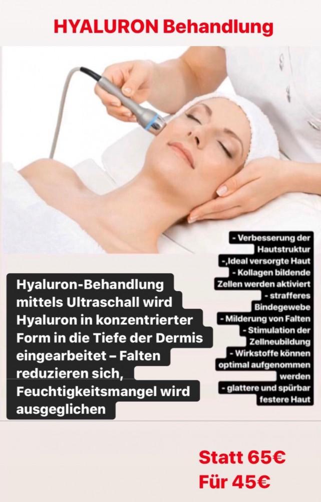 Angebot Hyaluron Behandlung