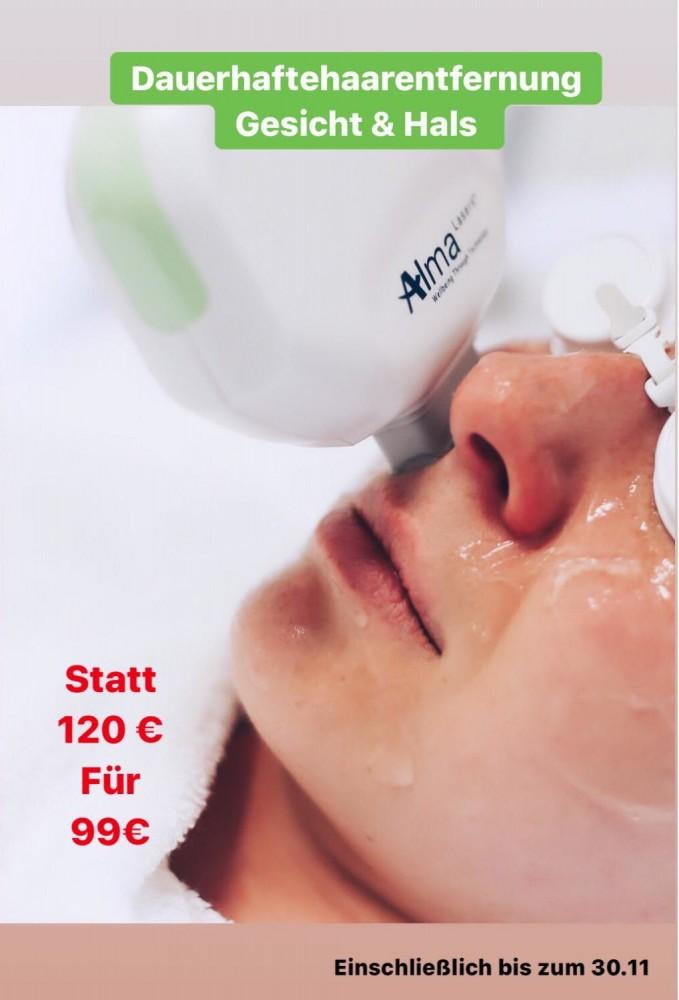 Angebot Dauerhafte Haarentfernung für Gesicht und Hals